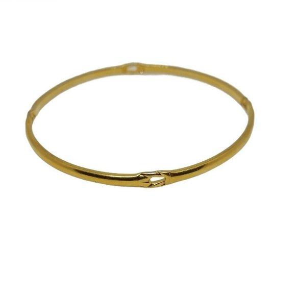 Vintage Monet Bangle Bracelet Gold Tone Delicate
